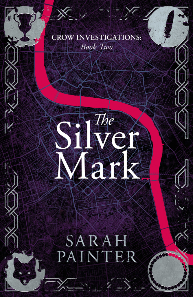 The Silver Mark book cover, book two of Crow Investigations by Sarah Painter